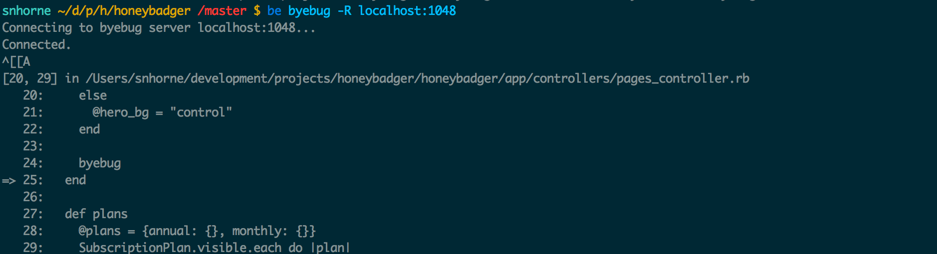 Remote Debugging with Byebug, Rails and Pow - Honeybadger