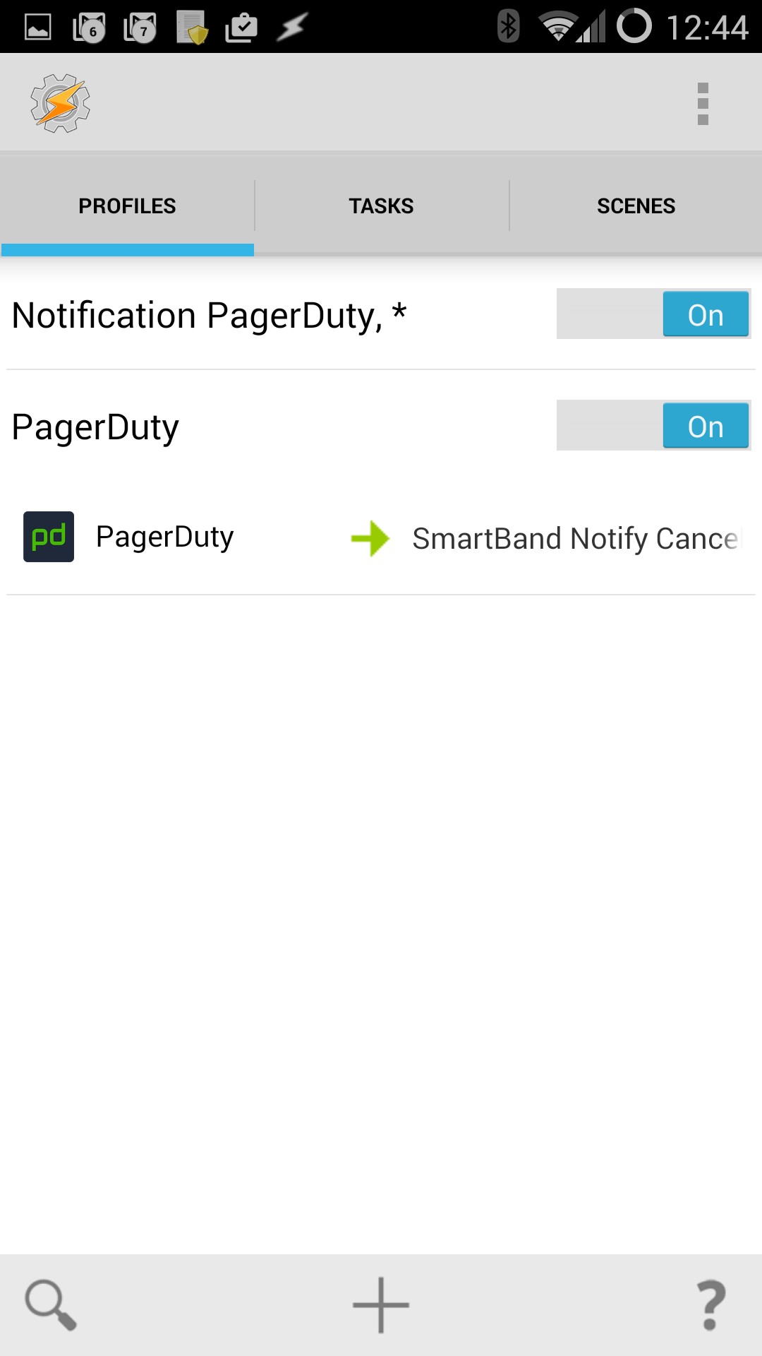 Stop buzzing the smartband when I open the pagerduty app