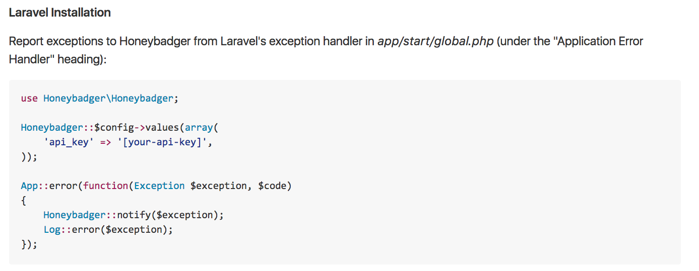 Laravel installation