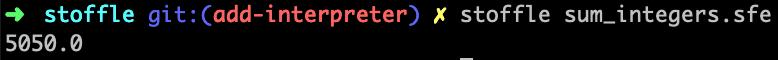 Sum Integers Function Running